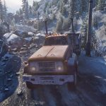 【SnowRunner】巨大な落石で通行止めになった道路をトラックを使って復旧させてみた【アフロマスク】[ゲーム実況byアフロマスク]