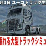ぐっすり眠れるリアルな大型トラックシミュレーター(魔改造Volvo)【ユーロトラック 生放送 2020年6月3日】[ゲーム実況byアフロマスク]