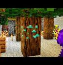 ダイヤの木作ります。【マイクラ】【カズクラ2020コラボ/きおはら島パート139】[ゲーム実況byきおきお]